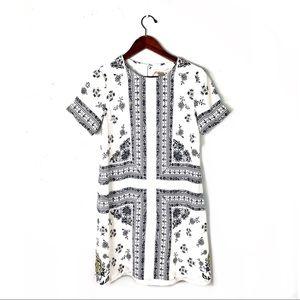 Ann Taylor dress floral paisley jersey xs back cut